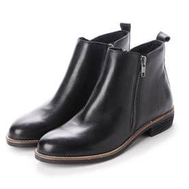 本革ショートブーツ (ブラック)