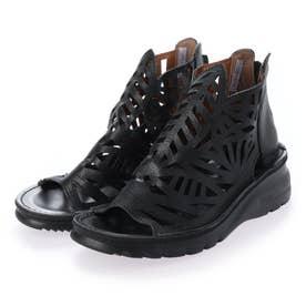 本革ブーツサンダル (ブラック)