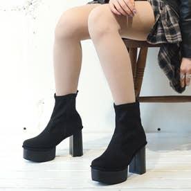 厚底ブーツ (ブラックシルキー)