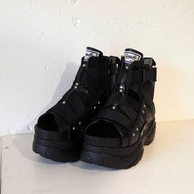 厚底ブーツサンダル (ブラック)