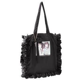 ディア&マイフリルトートバッグ (ブラック)