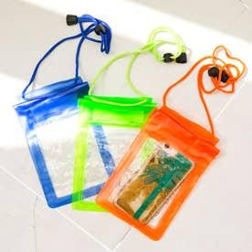 スマホ防水ケース (グリーン、オレンジ、ブルー)