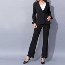 154cm用ストレッチパンツスーツ (ブラック)