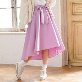 リボンベルトフィッシュテールスカート (ラベンダー)