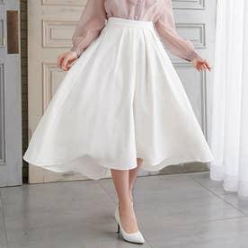 ロングフィッシュテールスカート (ホワイト)