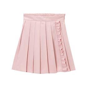 無地選べる形スカート (プリーツ 無地ピンク)