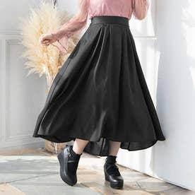 フィッシュテールロングスカート (ブラック)