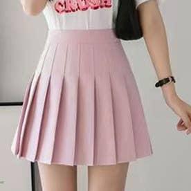 プリーツミニスカパン (ピンク)