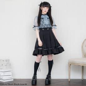 レースガーターデザインスカート (膝上 ブラック)