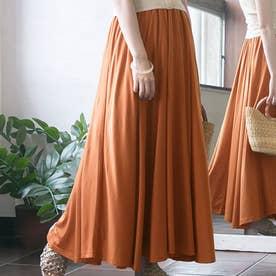 サーキュラーフレアスカート (オレンジ)