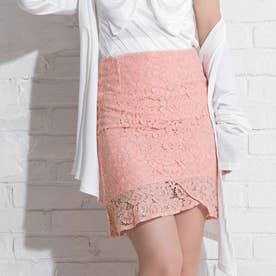 タイトレースマーメイドスカート (ピンク)