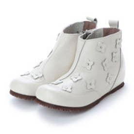 春ブーツ サマーブーツ ブーツ コサージュ 本革 (IV)