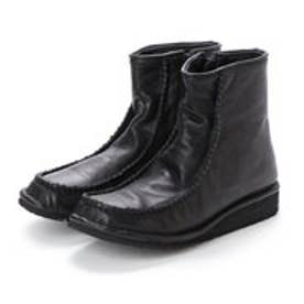 春ブーツ ブーツ ショートブーツ カジュアル ガーリー モカ 本革 日本製 (BL)