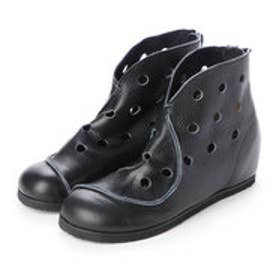 ブーツ パンチ インヒール フラット 本革 日本製 (BL)