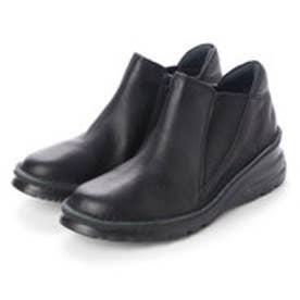 ブーツ ショートブーツ 本革 日本製 ファスナー ゴム 外反母趾 4E (BL)