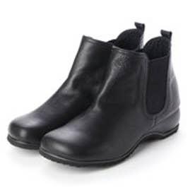 春ブーツ ショートブーツ サイドゴア 本革 日本製 (BL)