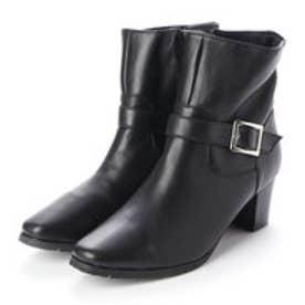 ブーツ ショートブーツ ベルト 金具 本革 日本製 (BL)
