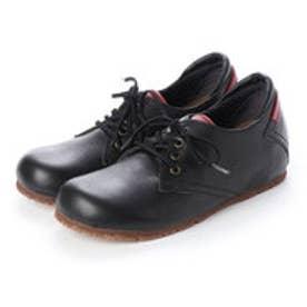 マニッシュ シンプル コンフォート 本革 日本製 ゴムヒモ靴 (BL])