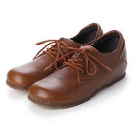 マニッシュ シンプル コンフォート 本革 日本製 ゴムヒモ靴 (オリーブ)