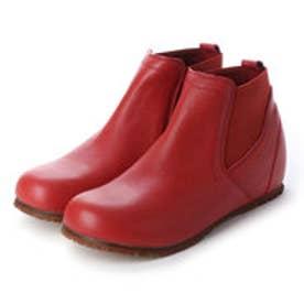 ショートブーツ サイドゴア 本革 日本製 外反母趾 (WI)