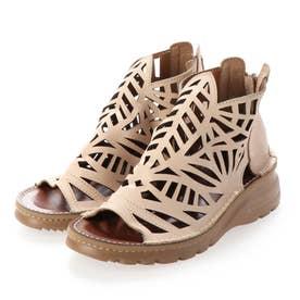 ブーツ サマーブーツ パンチ 本革 日本製 (VANILLA)