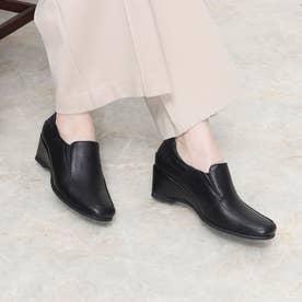 パンプス 本革 日本製 歩きやすい 痛くない 疲れにくい ウェッジ ウィッジ モカ (BL)