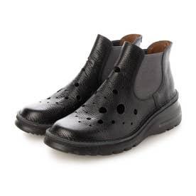 サマーブーツ ブーツ 本革 日本製 軽量底 4E 歩きやすい (BL)