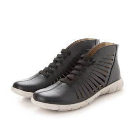ブーツ サマーブーツ 本革 日本製 メッシュ フラット (BL)