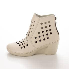 ブーツ サマーブーツ ウェッジ ウィッジ 本革 日本製 歩きやすい ファスナー 足長効果 (IV)