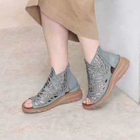 ブーツ サマーブーツ パンチ 本革 日本製 (TURQUOISE)