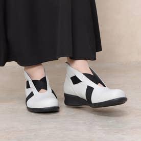 ブーツ ブーティ 本革 日本製 外反母趾 (IV)