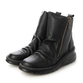 ブーツ ブーティ 本革 日本製 外反母趾 (BL)