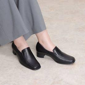 パンプス ローファー ヒール 本革 日本製 歩きやすい 痛くない 外反母趾 冠婚葬祭 (BL)