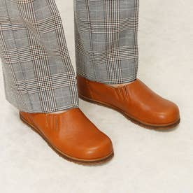 カジュアルのスリッポンで両ゴムで歩きやすい 本革 日本製 外反母趾 4E (CAMEL)