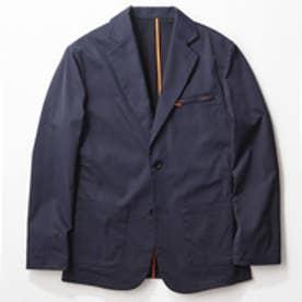 YZO カラーパイピングテーラードジャケット(ネイビー×オレンジ)