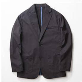 YZO カラーパイピングテーラードジャケット(ブラック×ブルー)