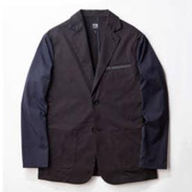 YZO バイカラーテーラードジャケット (ネイビー×ブラック)