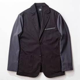 YZO バイカラーテーラードジャケット (チャコールグレー×ブラック)【返品不可商品】