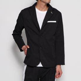 YZO カモフラージュテーラードジャケット(ブラック×ホワイト)