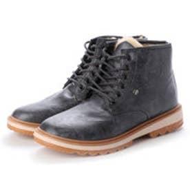 メンズブーツ 防寒 ムートンブーツ ショートブーツ  裏ボア 靴 メンズシューズ (グレー)
