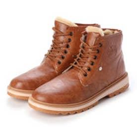 メンズブーツ 防寒 ムートンブーツ ショートブーツ  裏ボア 靴 メンズシューズ (ライトブラウン)