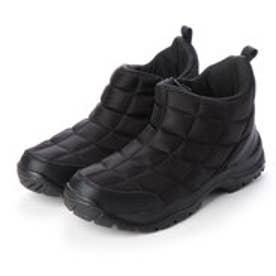 レインブーツ 防水 防寒  メンズブーツ スノーシューズ レインシューズ ジップアップ 軽量 雪 雨 靴 (ブラック)