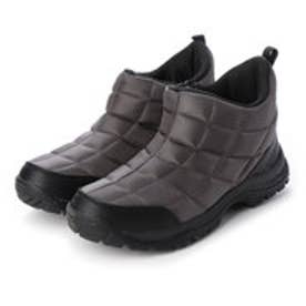レインブーツ 防水 防寒  メンズブーツ スノーシューズ レインシューズ ジップアップ 軽量 雪 雨 靴 (グレー)