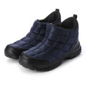 レインブーツ 防水 防寒  メンズブーツ スノーシューズ レインシューズ ジップアップ 軽量 雪 雨 靴 (ネイビー)