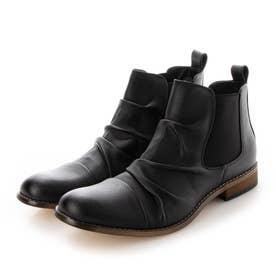ブーツ メンズ メンズブーツ サイドゴアブーツ (ブラック)