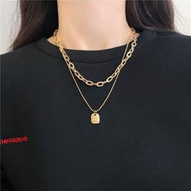 ゴールドチェーン2連ネックレス 8014 (GOLD)