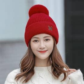 カジュアル シンプル ニット帽 7918 (RED)