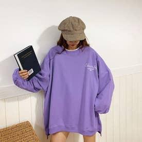 バックイラスト刺繍ロングTシャツ 8022 (PPL)