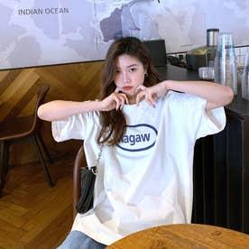 フロントロゴ カジュアル半袖Tシャツ 8072 (WHT)