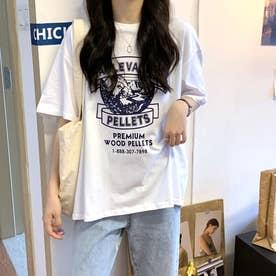 カジュアル プリント Tシャツ 8105 (WHT)